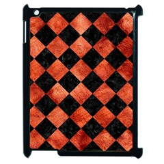 Square2 Black Marble & Copper Paint Apple Ipad 2 Case (black) by trendistuff