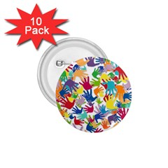 Volunteers Hands Voluntary Wrap 1 75  Buttons (10 Pack) by Celenk