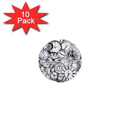 Time Clock Watches Time Of 1  Mini Magnet (10 Pack)  by Celenk