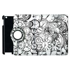 Time Clock Watches Time Of Apple Ipad 2 Flip 360 Case