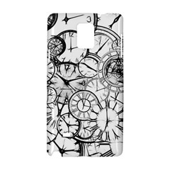 Time Clock Watches Time Of Samsung Galaxy Note 4 Hardshell Case by Celenk