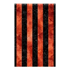 Stripes1 Black Marble & Copper Paint Shower Curtain 48  X 72  (small)  by trendistuff