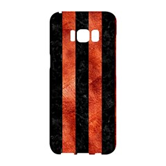 Stripes1 Black Marble & Copper Paint Samsung Galaxy S8 Hardshell Case  by trendistuff