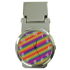Spectrum Psychedelic Green Money Clip Watches by Celenk