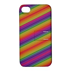 Spectrum Psychedelic Green Apple Iphone 4/4s Hardshell Case With Stand by Celenk