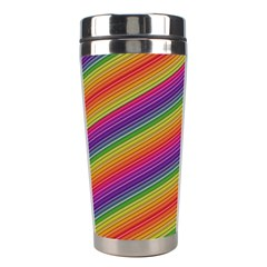 Spectrum Psychedelic Green Stainless Steel Travel Tumblers by Celenk