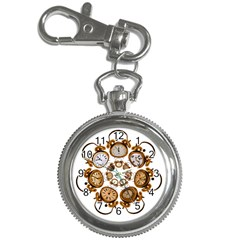 Time Clock Alarm Clock Time Of Key Chain Watches by Celenk