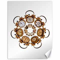 Time Clock Alarm Clock Time Of Canvas 18  X 24   by Celenk