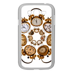 Time Clock Alarm Clock Time Of Samsung Galaxy Grand Duos I9082 Case (white) by Celenk