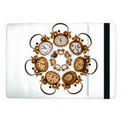 Time Clock Alarm Clock Time Of Samsung Galaxy Tab Pro 10 1  Flip Case by Celenk