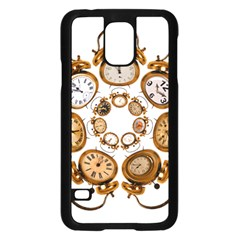 Time Clock Alarm Clock Time Of Samsung Galaxy S5 Case (black) by Celenk