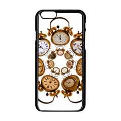 Time Clock Alarm Clock Time Of Apple Iphone 6/6s Black Enamel Case by Celenk