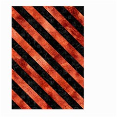 Stripes3 Black Marble & Copper Paint Large Garden Flag (two Sides) by trendistuff