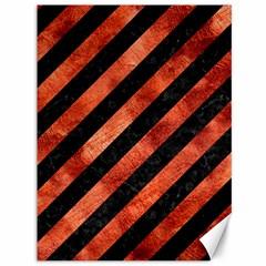 Stripes3 Black Marble & Copper Paint (r) Canvas 36  X 48   by trendistuff