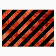 Stripes3 Black Marble & Copper Paint (r) Large Glasses Cloth by trendistuff