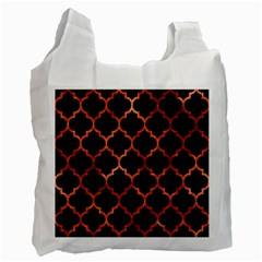 Tile1 Black Marble & Copper Paint (r) Recycle Bag (two Side)  by trendistuff
