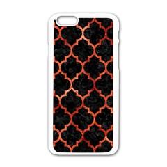 Tile1 Black Marble & Copper Paint (r) Apple Iphone 6/6s White Enamel Case by trendistuff