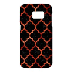Tile1 Black Marble & Copper Paint (r) Samsung Galaxy S7 Hardshell Case