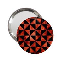 Triangle1 Black Marble & Copper Paint 2 25  Handbag Mirrors by trendistuff