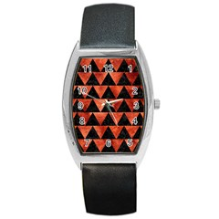 Triangle2 Black Marble & Copper Paint Barrel Style Metal Watch by trendistuff
