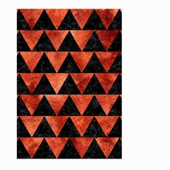 Triangle2 Black Marble & Copper Paint Large Garden Flag (two Sides) by trendistuff