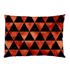 Triangle3 Black Marble & Copper Paint Pillow Case (two Sides) by trendistuff