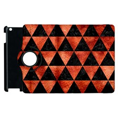 Triangle3 Black Marble & Copper Paint Apple Ipad 2 Flip 360 Case