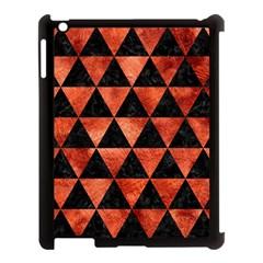 Triangle3 Black Marble & Copper Paint Apple Ipad 3/4 Case (black) by trendistuff