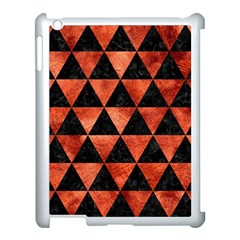 Triangle3 Black Marble & Copper Paint Apple Ipad 3/4 Case (white) by trendistuff