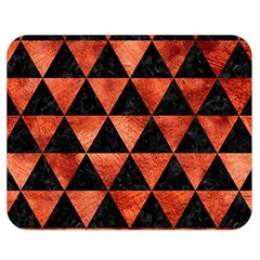 Triangle3 Black Marble & Copper Paint Double Sided Flano Blanket (medium)  by trendistuff