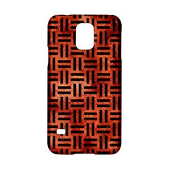Woven1 Black Marble & Copper Paint Samsung Galaxy S5 Hardshell Case  by trendistuff