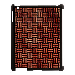Woven1 Black Marble & Copper Paint (r) Apple Ipad 3/4 Case (black) by trendistuff