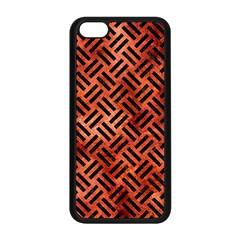 Woven2 Black Marble & Copper Paint Apple Iphone 5c Seamless Case (black) by trendistuff