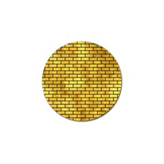 Brick1 Black Marble & Gold Paint Golf Ball Marker by trendistuff