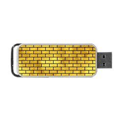 Brick1 Black Marble & Gold Paint Portable Usb Flash (one Side) by trendistuff