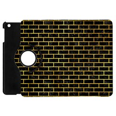 Brick1 Black Marble & Gold Paint (r) Apple Ipad Mini Flip 360 Case by trendistuff