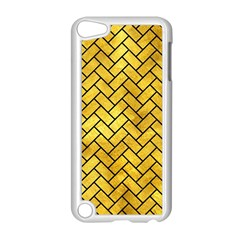 Brick2 Black Marble & Gold Paint Apple Ipod Touch 5 Case (white) by trendistuff
