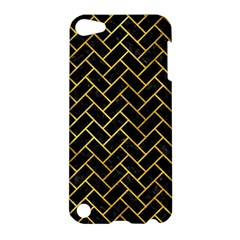 Brick2 Black Marble & Gold Paint (r) Apple Ipod Touch 5 Hardshell Case by trendistuff
