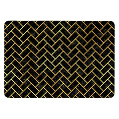 Brick2 Black Marble & Gold Paint (r) Samsung Galaxy Tab 8 9  P7300 Flip Case by trendistuff