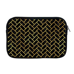 Brick2 Black Marble & Gold Paint (r) Apple Macbook Pro 17  Zipper Case by trendistuff