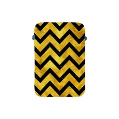 Chevron9 Black Marble & Gold Paint Apple Ipad Mini Protective Soft Cases by trendistuff