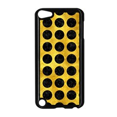 Circles1 Black Marble & Gold Paint Apple Ipod Touch 5 Case (black)