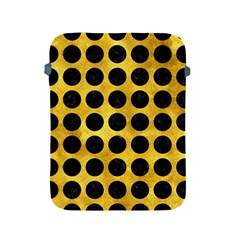 Circles1 Black Marble & Gold Paint Apple Ipad 2/3/4 Protective Soft Cases by trendistuff