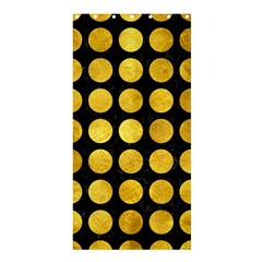 Circles1 Black Marble & Gold Paint (r) Shower Curtain 36  X 72  (stall)  by trendistuff