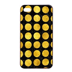 Circles1 Black Marble & Gold Paint (r) Apple Iphone 4/4s Seamless Case (black) by trendistuff