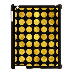 Circles1 Black Marble & Gold Paint (r) Apple Ipad 3/4 Case (black) by trendistuff