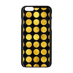 Circles1 Black Marble & Gold Paint (r) Apple Iphone 6/6s Black Enamel Case by trendistuff