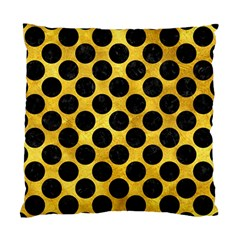 Circles2 Black Marble & Gold Paint Standard Cushion Case (one Side) by trendistuff
