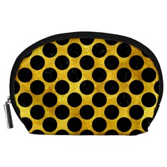 Circles2 Black Marble & Gold Paint Accessory Pouches (large)  by trendistuff