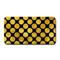 Circles2 Black Marble & Gold Paint (r) Medium Bar Mats by trendistuff